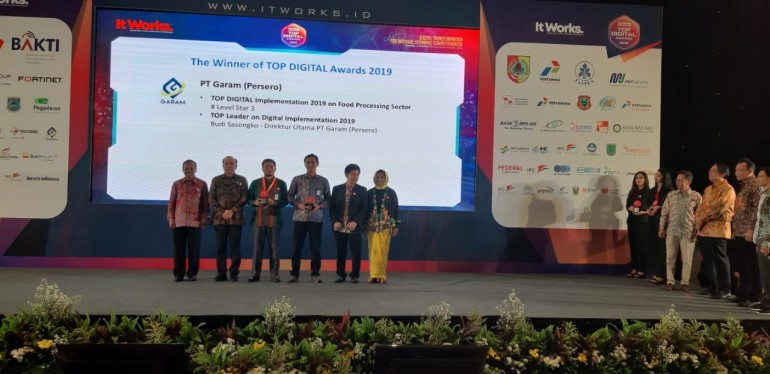 PT Garam Sabet 2 Penghargaan Top Digital Awards 2019