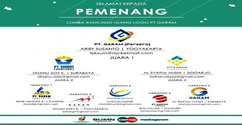 Pemenang Lomba Rancang Ulang Logo PT. Garam (Persero)
